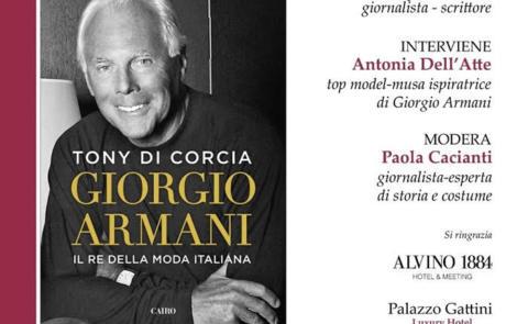 """Presentazione Libro di Tony di Cocia """"Giorgio Armani. Il re della moda italiana"""""""